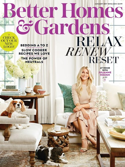 Better Homes & Gardens Cover - 1/1/2017