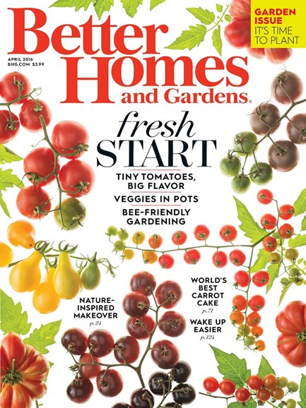 Better Homes & Gardens Cover - 4/1/2016