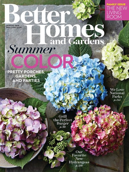 Better Homes & Gardens Cover - 8/1/2016