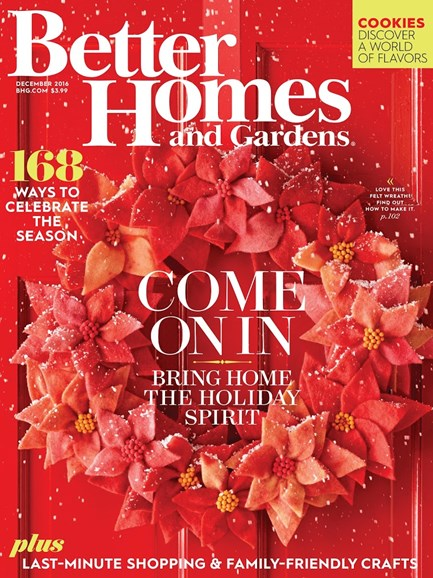 Better Homes & Gardens Cover - 12/1/2016