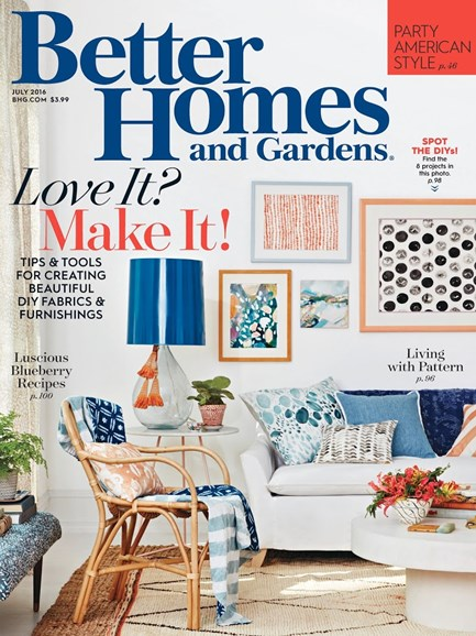 Better Homes & Gardens Cover - 7/1/2016