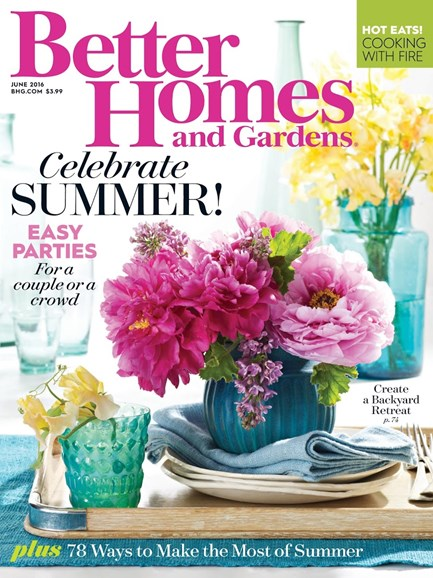 Better Homes & Gardens Cover - 6/1/2016