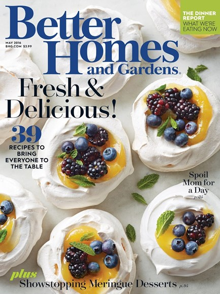 Better Homes & Gardens Cover - 5/1/2016