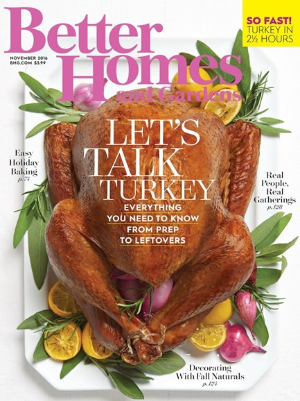 Better Homes & Gardens Cover - 11/1/2016