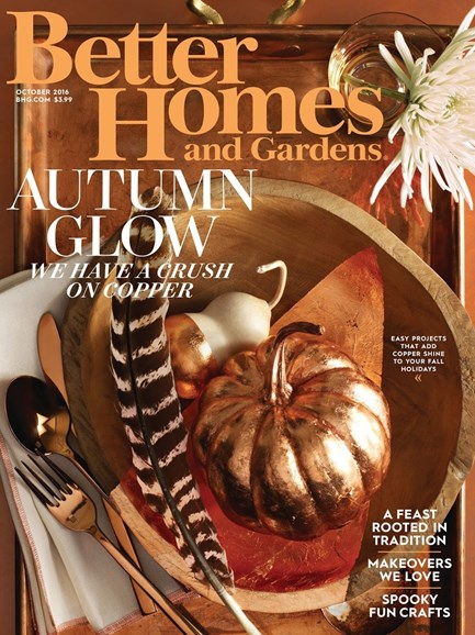 Better Homes & Gardens Cover - 10/1/2016