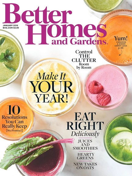 Better Homes & Gardens Cover - 1/1/2016