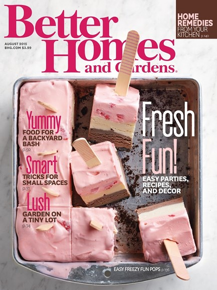 Better Homes & Gardens Cover - 8/1/2015