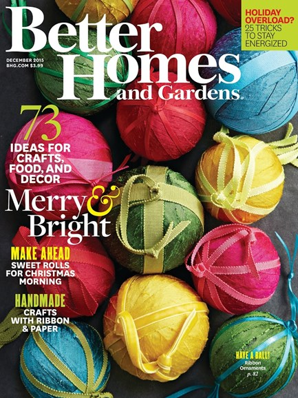 Better Homes & Gardens Cover - 12/1/2015
