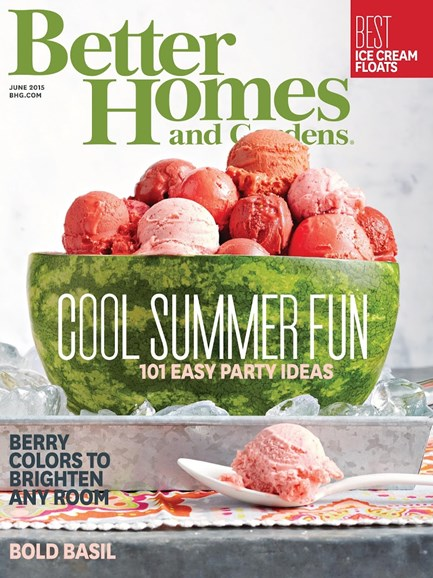 Better Homes & Gardens Cover - 6/1/2015