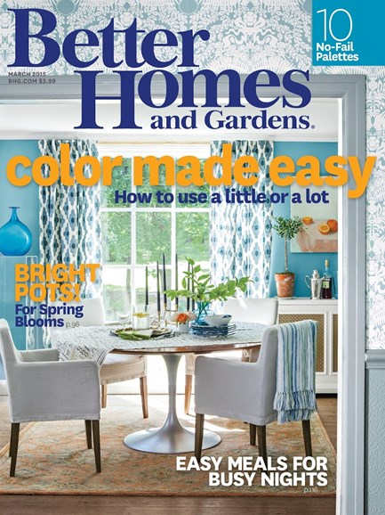 Better Homes & Gardens Cover - 3/1/2015