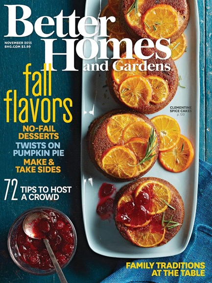 Better Homes & Gardens Cover - 11/1/2015