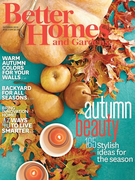 Better Homes & Gardens Cover - 10/1/2015