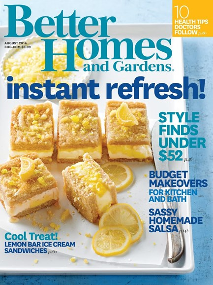 Better Homes & Gardens Cover - 8/1/2014