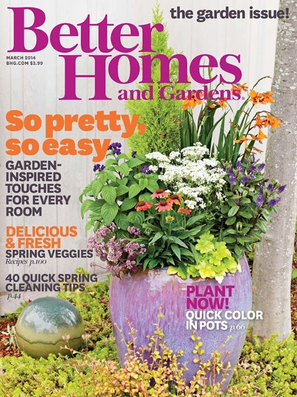 Better Homes & Gardens Cover - 3/1/2014