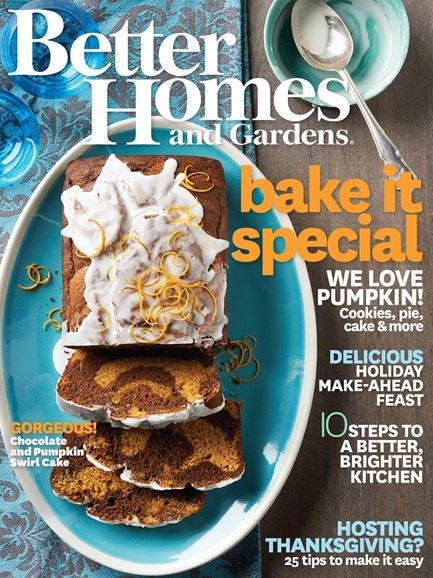 Better Homes & Gardens Cover - 11/1/2014