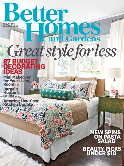 Better Homes & Gardens Cover - 8/1/2013