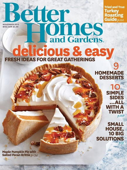 Better Homes & Gardens Cover - 11/1/2013