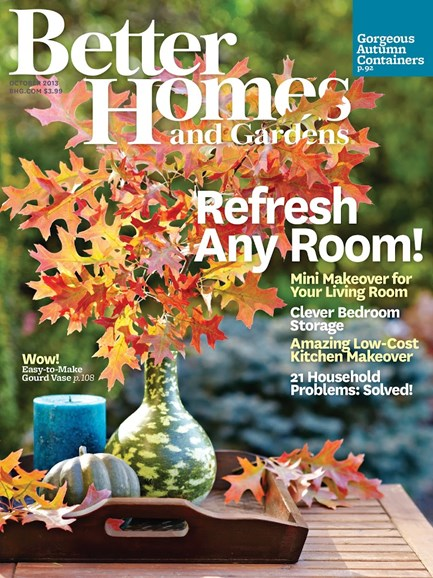 Better Homes & Gardens Cover - 10/1/2013