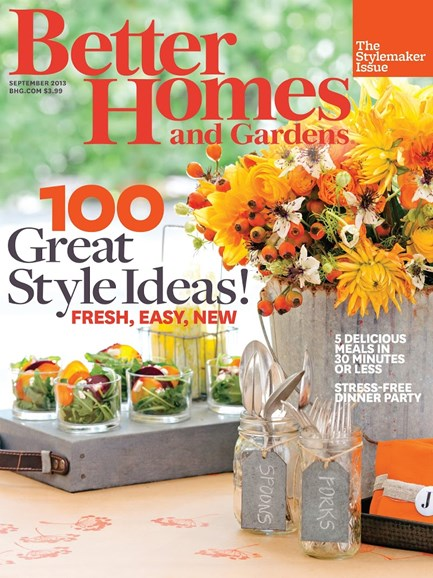 Better Homes & Gardens Cover - 9/1/2013