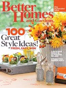 Better Homes & Gardens Magazine 9/1/2013
