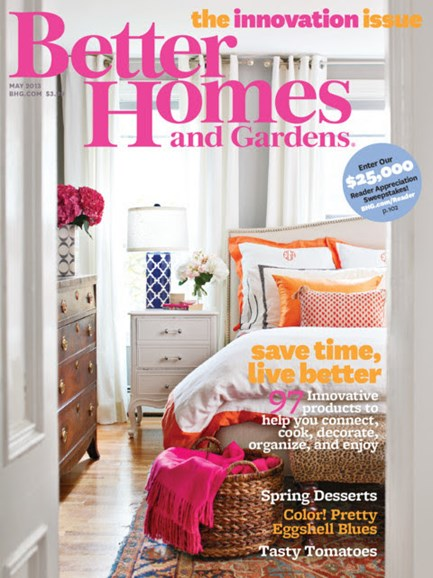 Better Homes & Gardens Cover - 5/1/2013