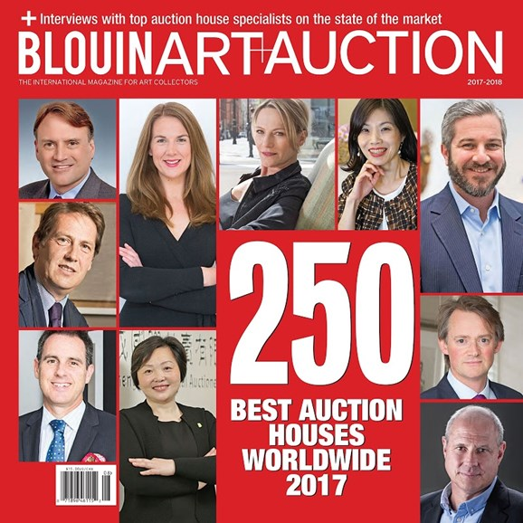 Blouin Art & Auction Cover - 8/1/2017