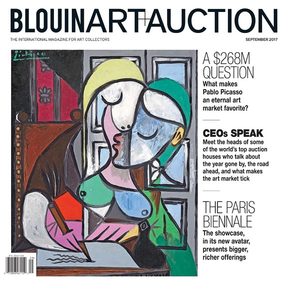 Blouin Art & Auction Cover - 9/1/2017