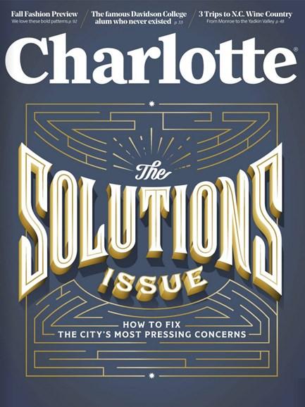 Charlotte Magazine Cover - 9/1/2017