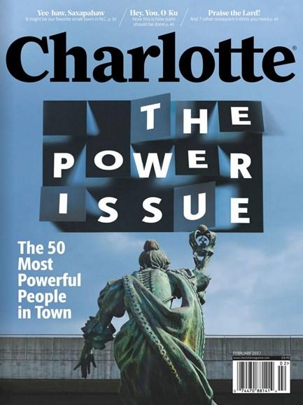 Charlotte Magazine Cover - 2/1/2017
