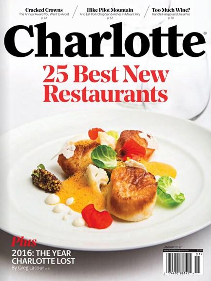 Charlotte Magazine Cover - 1/1/2017