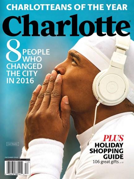 Charlotte Magazine Cover - 12/1/2016
