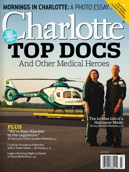 Charlotte Magazine Cover - 7/1/2016