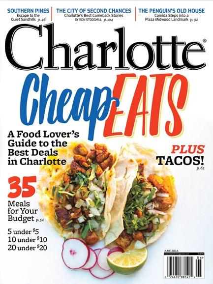 Charlotte Magazine Cover - 6/1/2016