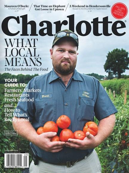 Charlotte Magazine Cover - 9/1/2016