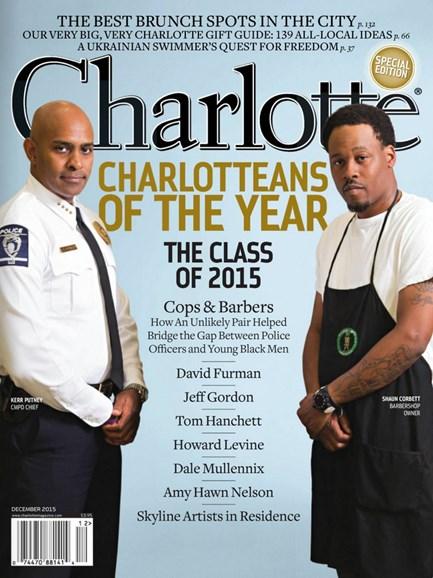 Charlotte Magazine Cover - 12/1/2015