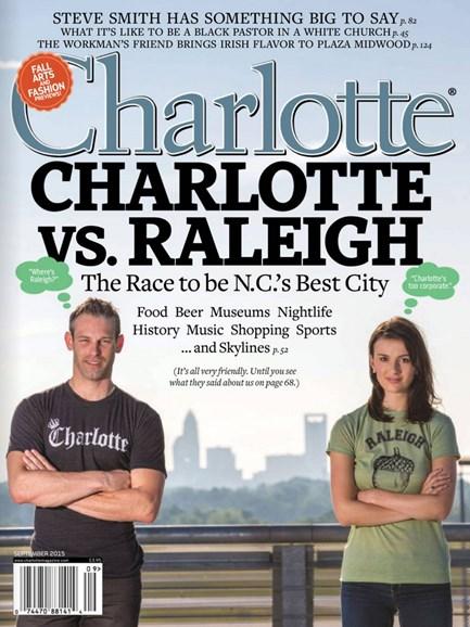 Charlotte Magazine Cover - 9/1/2015