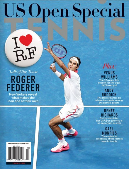Tennis Magazine Cover - 9/1/2017