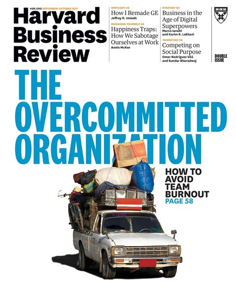 Harvard Business Review Cover - 9/1/2017