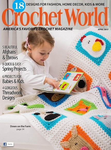 Crochet World Cover - 4/1/2017