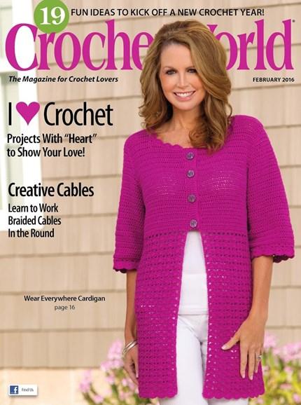 Crochet World Cover - 2/1/2016