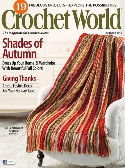 Crochet World Cover - 10/1/2015