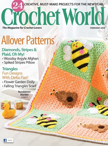 Crochet World Cover - 2/1/2014