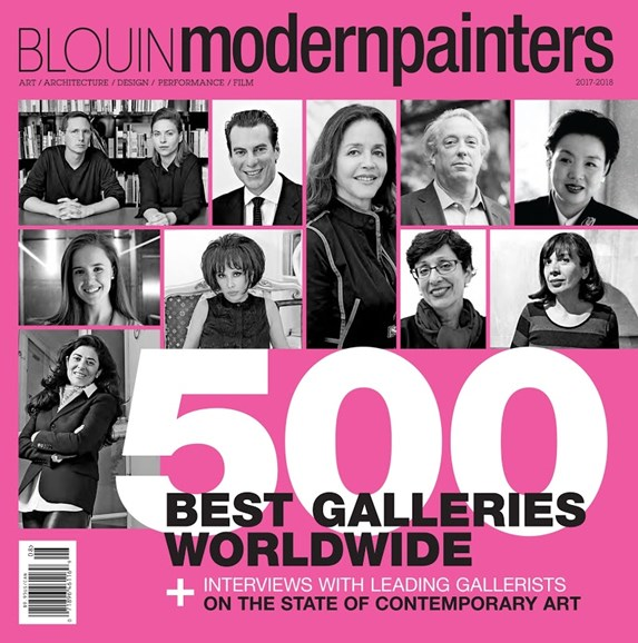 Blouin Modern Painters Cover - 8/1/2017