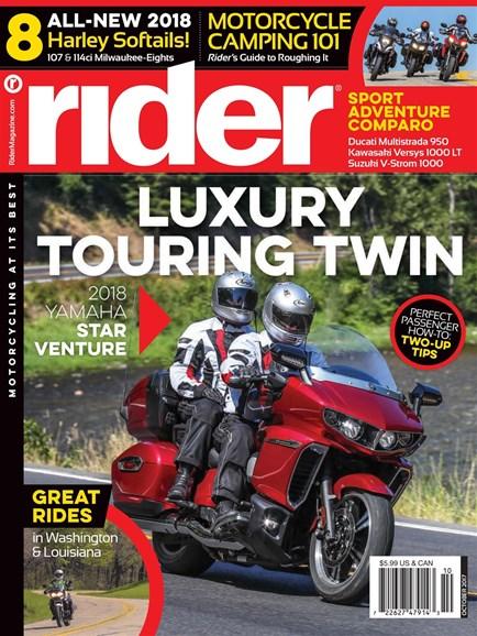 Rider Cover - 10/1/2017