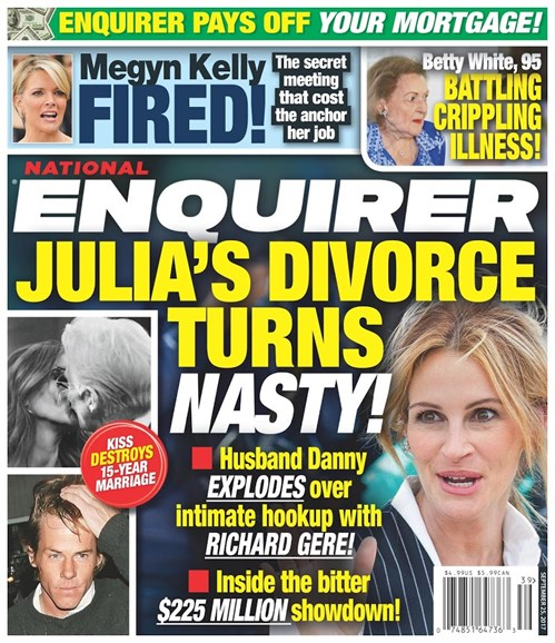 National Enquirer Cover - 9/25/2017