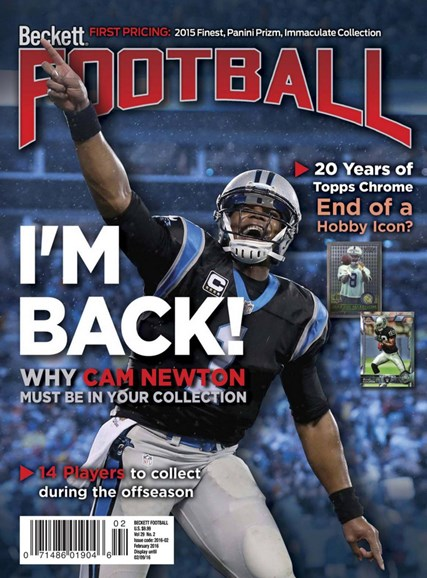 Beckett Football Cover - 2/1/2016