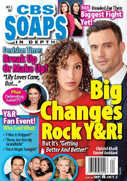 CBS Soaps In Depth Cover - 10/2/2017