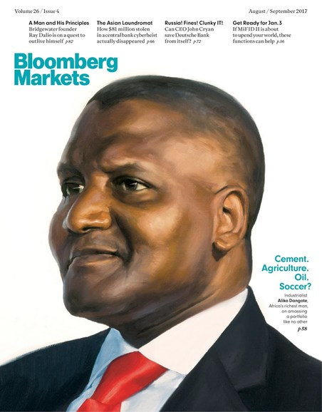 Bloomberg Markets Cover - 8/1/2017