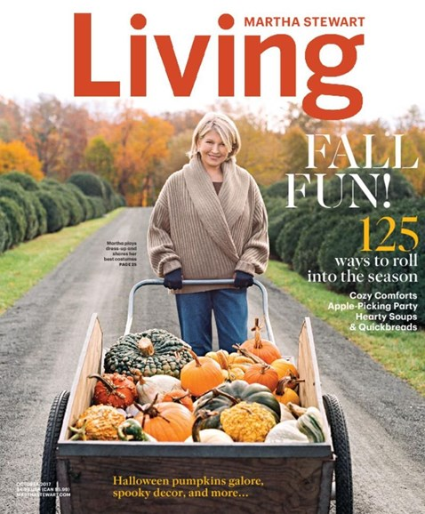 Martha Stewart Living Cover - 10/1/2017