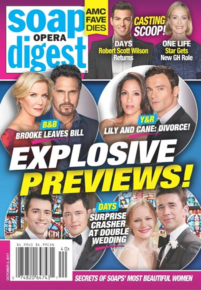 Soap Opera Digest Cover - 10/2/2017